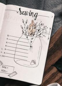 bullet journal saving page 1