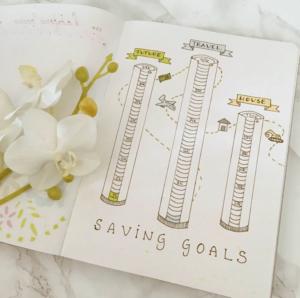 bullet journal saving page 5