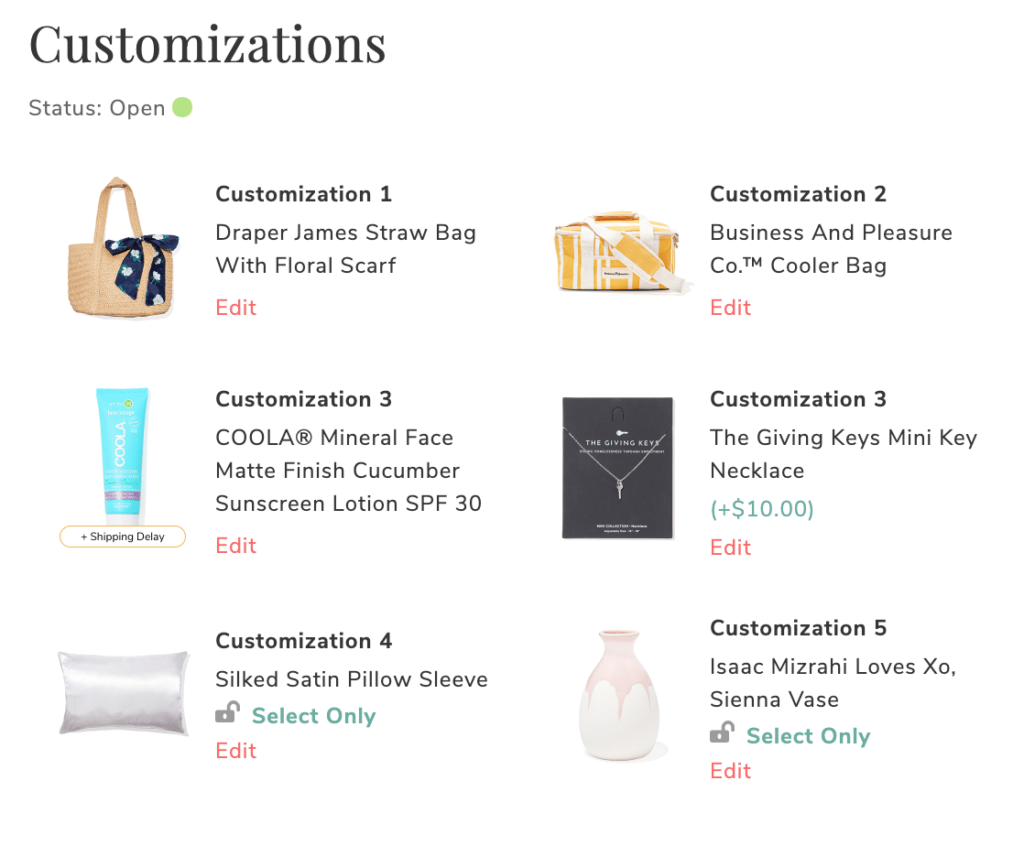 my fabfitfun summer 2020 customizations